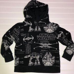 Star Wars 4-6y black and white hoodie